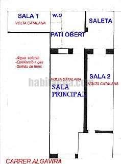 Local Comercial en Sant Feliu de Gu�xols. Tres �voltes catalanes� de1700 y patio interior Carrer algavira,22